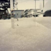 突然の雪で思わず定規で計っちゃったの巻ww