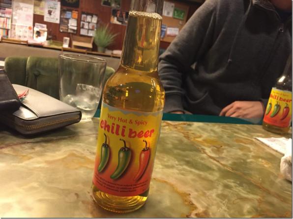 チリビール。ときどき、かつ鍋定食。